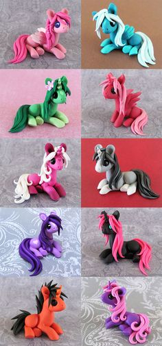 Colorful Scrap Ponies by DragonsAndBeasties.deviantart.com on @deviantART