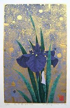 Iris No.154, by Sugiura Kazutoshi. -- See also at: http://www.vernegallery.com/art-detail/KazutoshiSugiyura/iris-154/255/