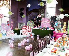 You searched for label/willy wonka and the chocolate factory birthday party Candy Theme, Candy Party, Anniversaire Candy Land, Birthday Party Decorations, Birthday Parties, Birthday Centerpieces, Room Decorations, Birthday Celebration, Birthday Ideas