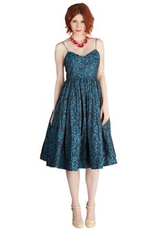 Tracy Reese True Blue Elegance Dress. Once you adorn yourself in this blossoming A-line by Tracy Reese, feeling blue takes on a whole new, more elegant meaning. #blue #prom #wedding #bridesmaid #modcloth