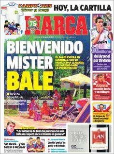 Los Titulares y Portadas de Noticias Destacadas Españolas del 25 de Agosto de 2013 del Diario Deportivo MARCA ¿Que le pareció esta Portada de este Diario Español?