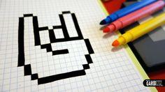 Pixel Coloriage Image Coloriage Avec Handmade Pixel Art How To Draw A Hand Pixelart Et Pixel Art Minecraft A Imprimer 44 Pixel Art Minecraft A Imprimer Graph Paper Drawings, Graph Paper Art, Easy Drawings, Pattern Drawing, Pattern Art, Grille Pixel Art, Pixel Art Minecraft, Graffiti Art, Image Pixel Art