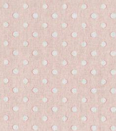 Home Decor Fabric-Waverly Dotz Petal Pink: home decor fabric: fabric: Shop | Joann.com--love this polkadot fabric for pillows