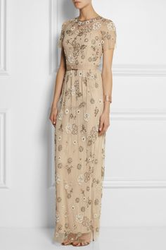 Needle & Thread Petal embellished tulle gown NET-A-PORTER.COM
