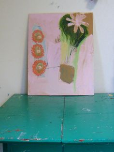 Flower Arrangement Original oil and acrylic by BrookeWandall, $70.00