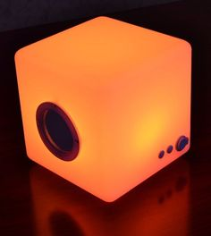 This Wireless Cube Has Multi-Color LED Lights That Change Color #speakers trendhunter.com