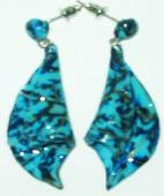 Originales pendientes en colores azul y negro.  **********************************  Originals earrings on blue and black colors.