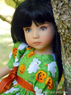 "Have you seen my pumpkins? outfit for Dianna Effner's 13"" Little Darling 