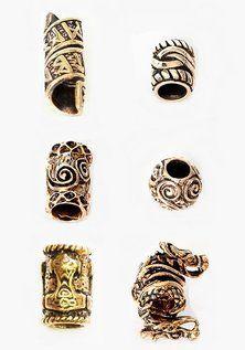 Beard Bead Set, Viking Bronze