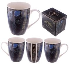 Collectable New Bone China Mug - Brush with Magic Cat Design