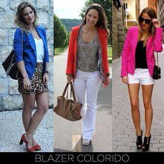 Aposte na tendência dos blazers coloridos, além de deixar o visual super alegre, eles caem bem nos mais variados looks! #DicaVitrineApp #Moda #Fashion #Dica Mergulhe na moda em www.vitrineapp.com.br