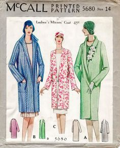 Flapper Coat Shawl | Sew These Inspiring Vintage Sewing Patterns For An Ultimate Throwback