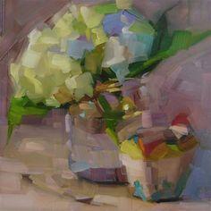 "Daily+Paintworks+-+""White+Hydrangea""+-+Original+Fine+Art+for+Sale+-+©+Holly+Storlie"