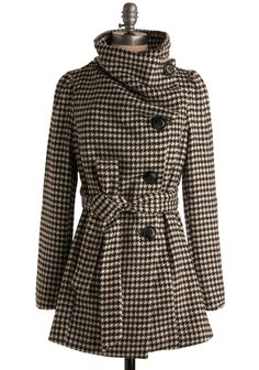 Carefully Chosen Coat - Plaid, Houndstooth, Long, Top Rated