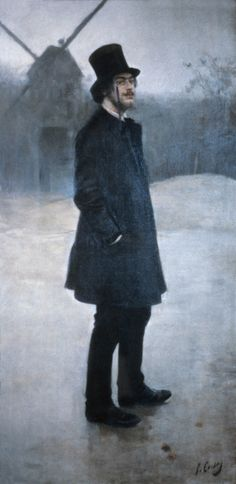 Erik Satie, French Composer (1866-1925). I've been listening to his Gymnopedies, No. 1 and 3, a lot lately.