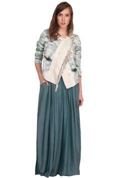 Lookbook shot of Valentine Gauthier's Fringe jacket.