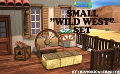 LEO-SIMS • historicalsimslife: SMALL WILD WEST OBJECT SET...