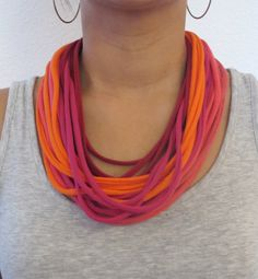 Upcycled Tshirt Neclace Scarves