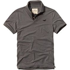 Hollister Mens Polo Shirt Gray (Large) - Brought to you by Avarsha.com