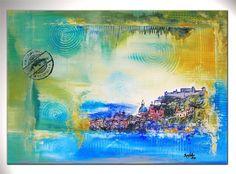 BURGSTALLER ORIGINAL XL Gemälde Bilder Kunst Malerei Leinwand Stadt SALZBURG