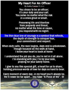 My heart for an officer
