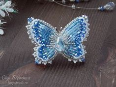 Embroidery butterfly bead 34 Ideas for 2019 Beading Projects, Beading Tutorials, Beading Patterns, Beaded Brooch, Beaded Earrings, Beaded Jewelry, Bead Embroidery Jewelry, Beaded Embroidery, Embroidery Ideas