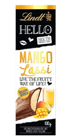 Discover the exciting combination of irresistible smooth milk chocolate and fruity mango yogurt milk cream. Lindt Chocolate, Chocolate Spread, Chocolate Brands, Chocolate Packaging, Chocolate Truffles, Chibi Food, Mango Lassi, Dessert Drinks, Desserts