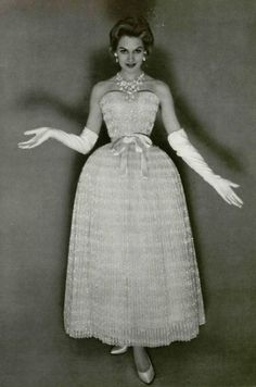 Christian Dior, designed by Yves Saint Laurent, 1958