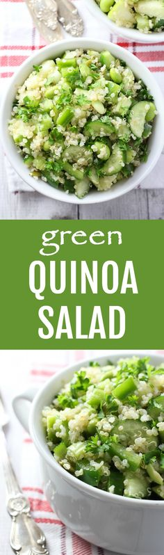 This spring quinoa salad is full of healthy green vegetables. It's light, filling and very easy to make. Perfect for bringing to work for a quick, healthy and delicious lunch.