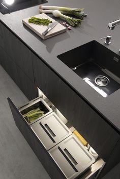 Serie 45 de Dica Kitchen Interior, Kitchen Design, Kitchen Dinning, Home Organization, Organizing, Kitchen Storage, Furniture Design, Furniture Ideas, Sink