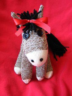 """The Rockford Red Heel Sock Monkey Donkey """"Daisy"""""""