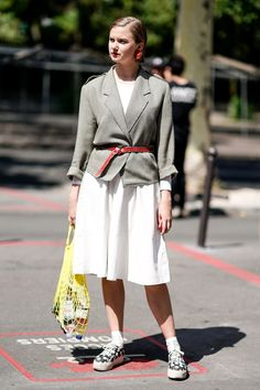 20 Ways to Wear Sneakers With All Your Spring Dresses