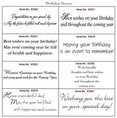 741 Best Birthday Card Verses Images On Pinterest In 2018