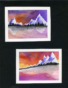 Mini Landscapes- A lesson in Horizon Lines