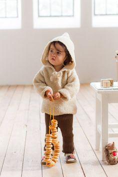 Süßer warmer Kapuzenpulli / soft baby hoodie by MarumaKids via DaWanda.com