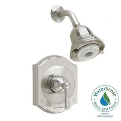 American Standard Portsmouth 1-Handle Shower Faucet Trim Kit with Square Escutcheon in Satin Nickel (Valve Sold Separately)