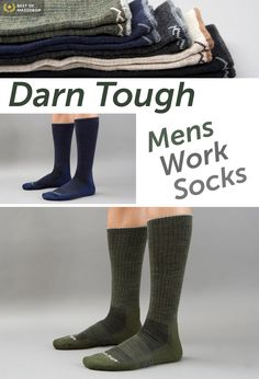 Almost indestructible and made out of Merino wool. Hands down my favorite hiking socks. You can get a sweet deal on Massdrop:  Darn Tough Mens Work Socks (3-Pack) on Massdrop