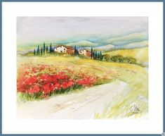 Watercolor Paintings For Beginners, Watercolor Landscape Paintings, Sketch Painting, Watercolor Sketch, Under The Tuscan Sun, Landscape Photos, Art Pictures, Art Inspo, Sketches