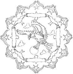 Bird Mandala coloring pages