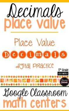 Teaching 5th grade math this year? Decimal Place Value has never been so engaging! Common Core Aligned interactive practice google slides for telling decimal place value up the thousandths place. Your students will love this math game with digital task cards and anchor charts! Its perfect for your math classroom centers! #decimalsactivities #decimals5thgrade #decimalsplacevalueanchorchart #googleclassroom #googleclassroommath