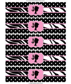 DIY Printable Polka Dot Zebra Vintage by PinkMonkeyPartyPrint, $6.00