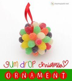 Gum Drop Christmas Ornaments Tutorial
