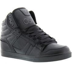 Osiris Clone Men's Black Skate 9.5 M ($65) ❤ liked on Polyvore featuring men's fashion, men's shoes, men's sneakers, black, mens black high top sneakers, mens hi top shoes, mens lightweight running shoes, mens shoes and mens hi tops