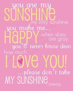 @Jennifer Doherty Gilliatt  You Are My Sunshine  Digital Print 8x10 Hot by DapperDuckDesigns, $8.50