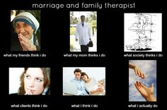 marriage and family therapist meme Psychology Exam, Counseling Psychology, Mental Health Humor, Family Therapy, Good Listener, Therapy Tools, Future Career, Marriage And Family, Get Excited