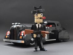 Bad guy versus good cop with these LEGO characters and their cool cars