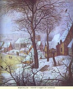 Pieter Brueghel the Younger. Winter Landscape. c.1621. Oil on panel. Museum of Fine Arts, Budapest, Hungary.