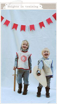 Adorable! Knights by mer mag, via Flickr (http://mermag.blogspot.com/2010/11/halloween-2010.html)