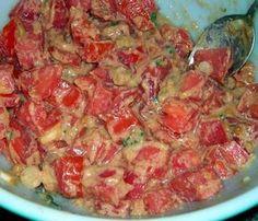 Sudanese Tomato Salad (Salata Tomatim Bel Daqua). Photo by morgainegeiser