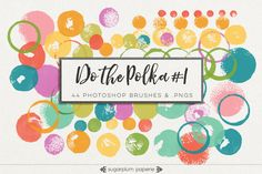 Do the Polka #1 : Brushes by Sugarplum Paperie on @creativework247